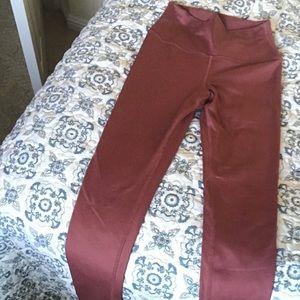 ALO mauve xs full Length yoga pants